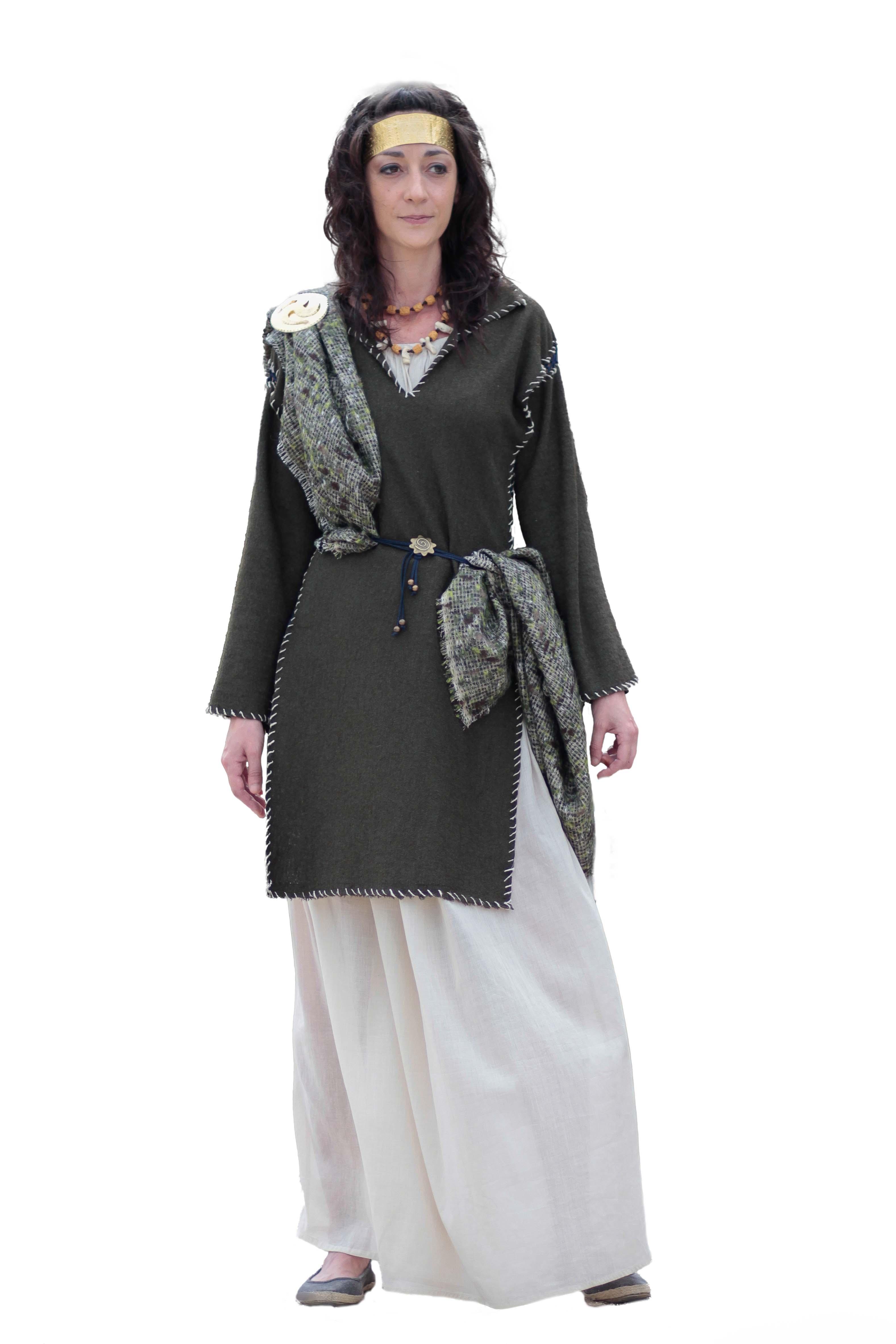 vestimenta celta mujer castrexa vikinga disfraz mujer