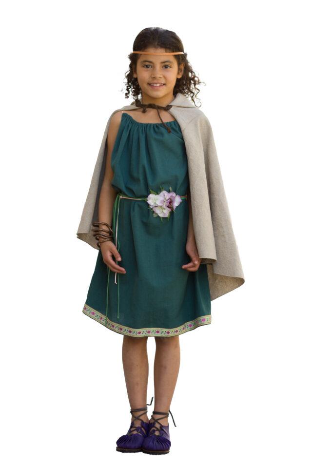 vestimenta celta ni a castrexa vikinga disfraz mujer