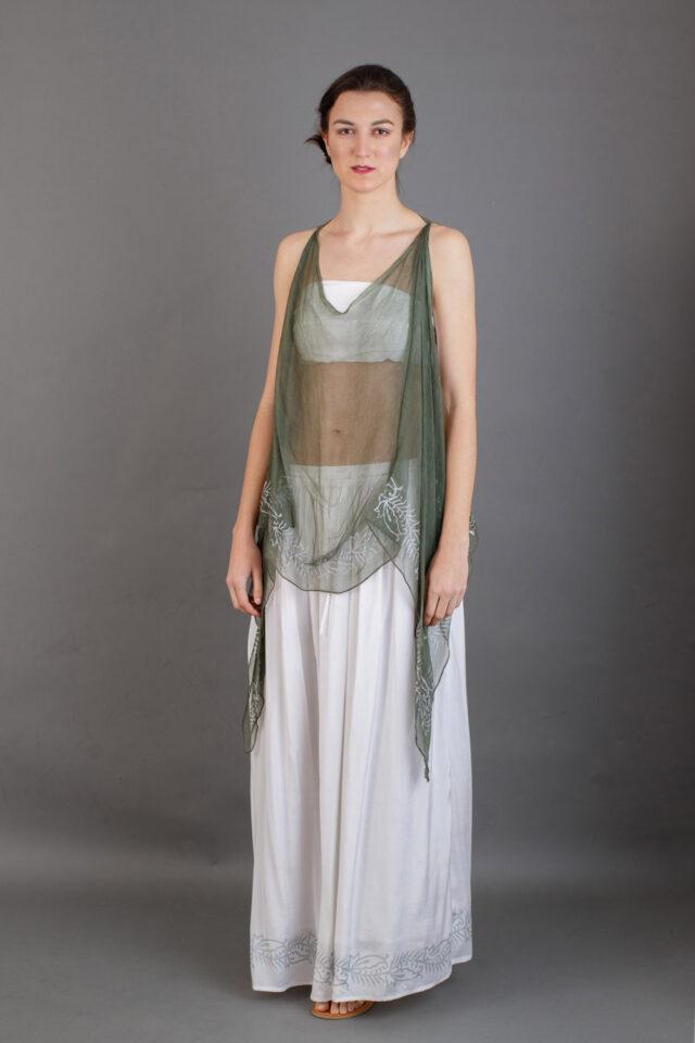 Vestido mujer romana antigua