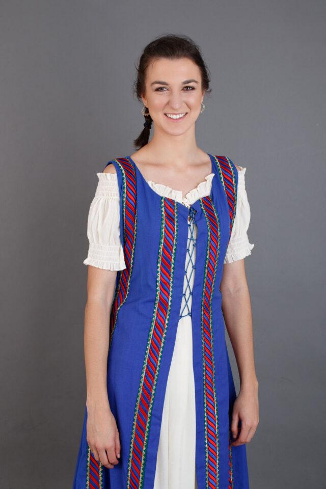 indumentaria para recreación medieval mujer