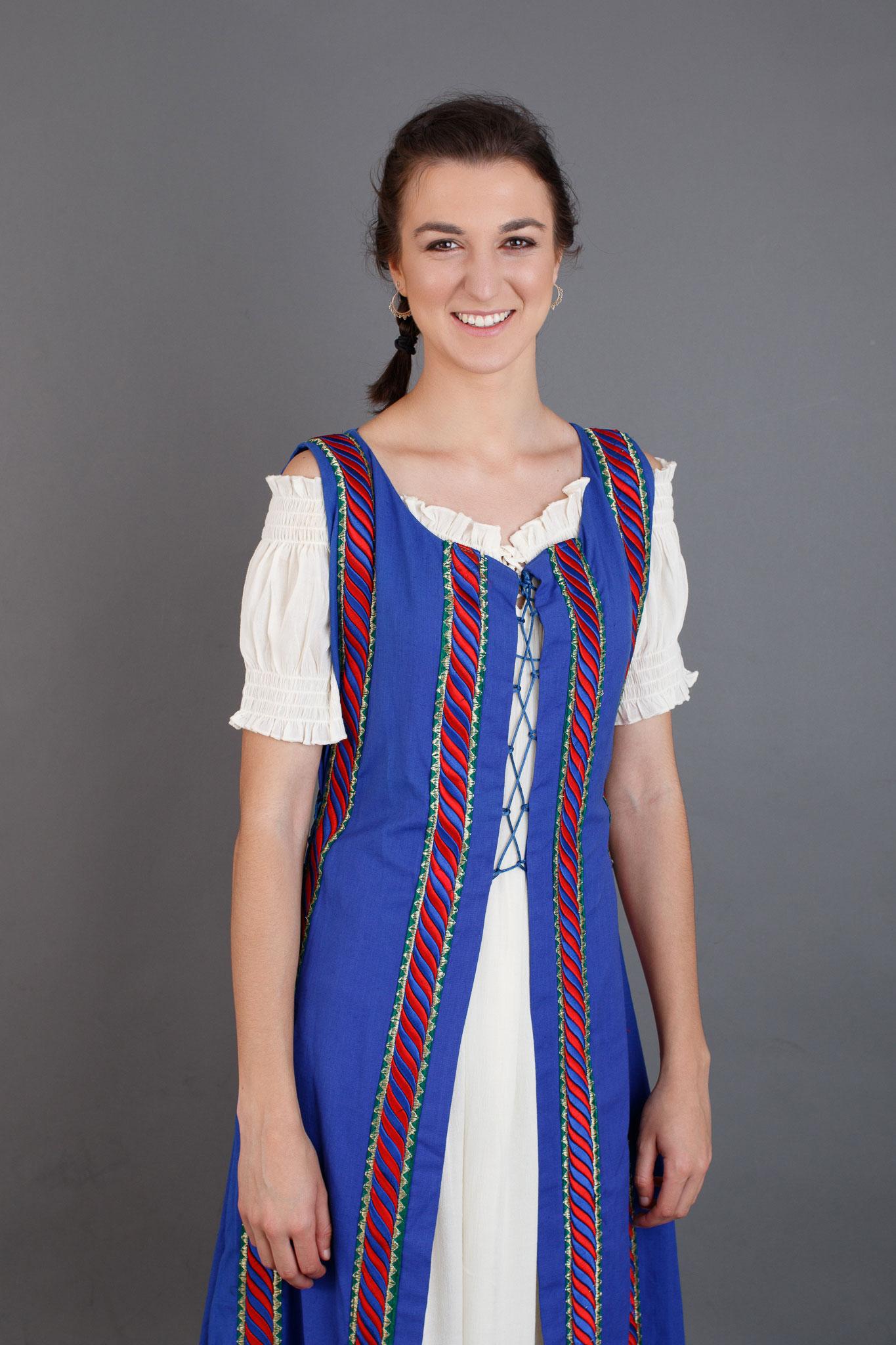 traje medieval mujer