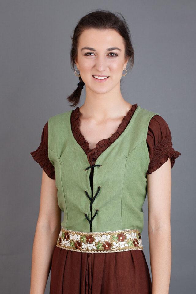 chaleco indumentaria recreación medieval mujer
