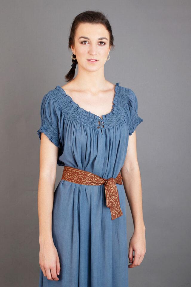 vestido medieval para mujer color azul